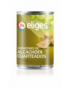 Corazones de alcachofa cuarteados ifa eliges lata 240g