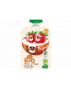 Pouch bio de fresa y yogur dulcesol 100g