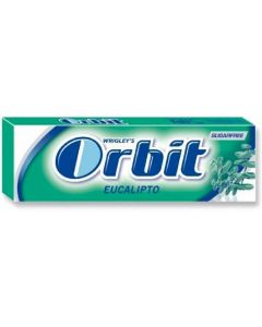 Chicles sin azúcar eucalipto orbit 10 grageas