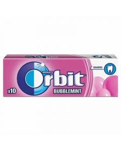 Chicles sin azúcar bubblemint orbit 10 grageas