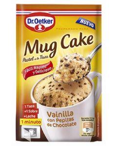 Mug cake preparado para pastel a la taza de vainilla con pepitas de chocolate dr. oetker 65g