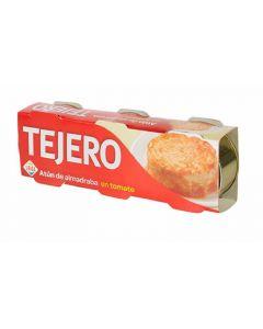 atún de almadraba tomate tejero pack de 3 unidades de 52g