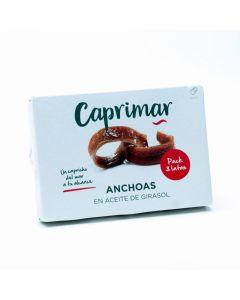 Anchoa en aceite de girasol caprimar pack de 3 unidades de 29g