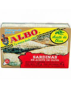 Sardinas en aceite de oliva albo 85g