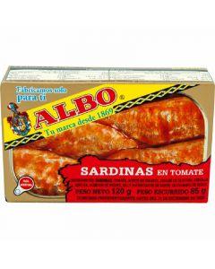 Sardinas con tomate albo 85g