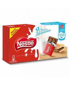 chocolate chocomerienda extrafino nestlé pack de 9 unidades de 20g