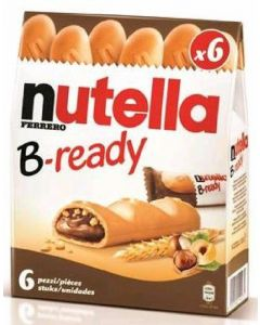 Barritas b-reday nutella pack de 6 unidades de 132g