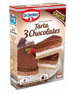 Tarta de tres chocolates dr. oetker 270g
