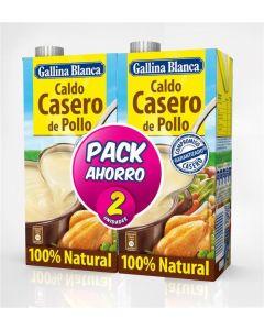 Caldo casero pollo gallina blanca pack duo 1l