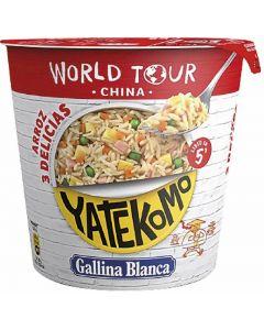 arroz 3 delicias world tour yatekomo gallina blanca cup 95g