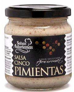 Salsa a las 5 pimientas la asturiana tarro 190g