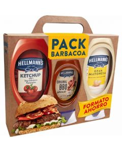 Lote mayonesa 430 ml+ketchup 486 ml+barbacoa 250 ml hellmans