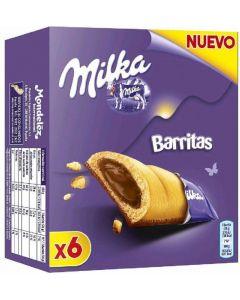 Galleta barrita milka pack de 6 unidades de 26g