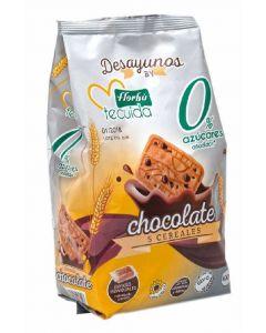 Galleta 5 cereales con choco 0% azúcares florbu 400g