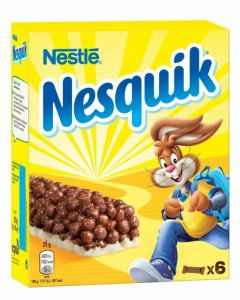 Barritas de cereales nesquik pack de 6 unidades de 25g