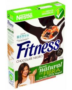 Cereales con chocolate negro nestlé fitness 375g