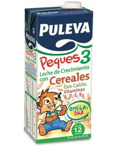 Leche líquida de peques3 con cereales puleva 1l