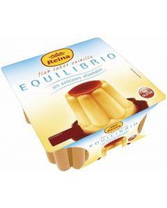 Flan vainilla sin azúcar reina pack de 4 unidades de 100g