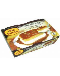Crema de queso con tocino y piñones reina pack de 2 unidades de 90g