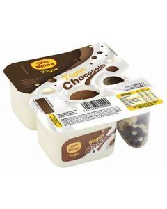 Crema yogur natural con chocobolas reina pack de 2 unidades de125g