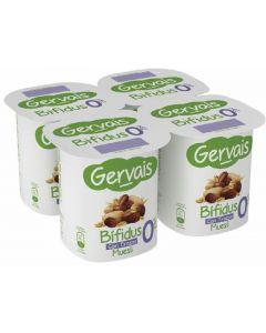 Yogur bifidus 0% con muesli gervais pack de 4 unidades de 125g