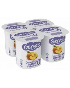 Yogur 0% con melocotón gervais pack de 4 unidades de 125g