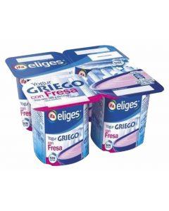 Yogur griego de fresa ifa eliges pack de 4 unidades de 125g