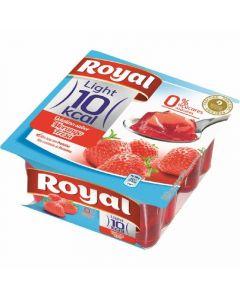 Gelatina de fresa royal 0% pack de 4 unidades de 400g