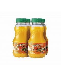 Bebida de naranja simon life botella pack de 4 unidades de 20cl