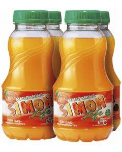 Bebida de mandarina simon life botella pack de 4 unidades de 80cl