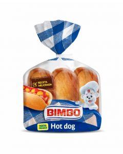 Pan bocata hot dog bimbo pack de 6 unidades de 55g