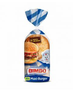 Pan de hamburguesa maxi bimbo pack de 4 unidades de 75g