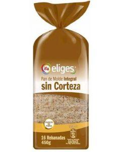Pan de molde sin corteza integral ifa eliges 450g