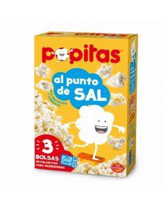 Palomitas al punto de sal popitas pack de 3 unidades de 300g