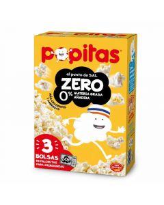 Palomitas zero popitas pack de 3 unidades de 210g