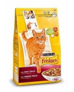 Comida seca para gatos con higado y verduras friskies 1,5kg