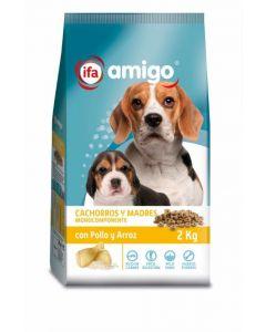 Comida seca para perros cachorros pollo ifa amigo 2kg