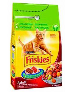 Comida seca para gatos adulto con buey y verdura friskies 4kg