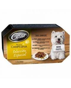 Comida húmeda para perros campesina cesar pack de 4 unidades de 100g