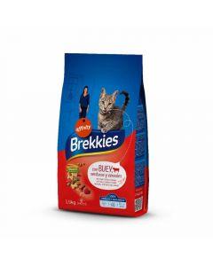 Comida seca para gatos con buey brekkies 1,5kg