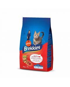 Comida seca para gatos con buey brekkies 4kg