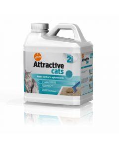Arena para gatos aglomerante attractive cats 6,38kg
