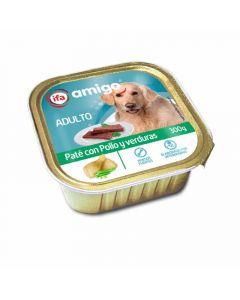 Comida húmeda para perros con pollo y verdura ifa amigo tarrina 300g