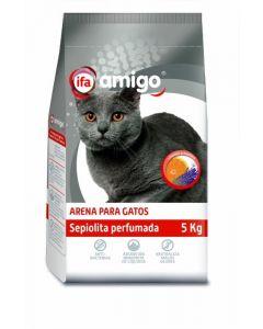 Arena para gatos perfumada de sepiolita ifa amigo 5kg