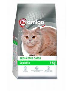 Arena para gatos de sepiolita ifa amigo 5kg