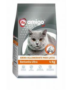 Arena para gatos aglomerante ifa amigo 4kg