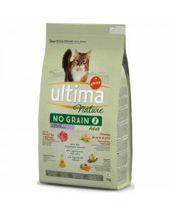 Comida gato no grain esterilizado buey ultima 1,1kg