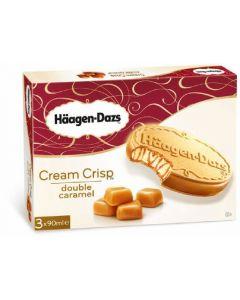 Helado cream crips de caramelo häagen-dazs pack de 3 unidades de 90ml