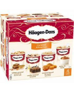 Helado minicups de caramelo häagen-dazs pack de 4 unidades de 50ml