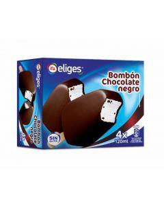 Helado bombón de chocolate negro ifa eliges pack de 4 unidades de 120ml